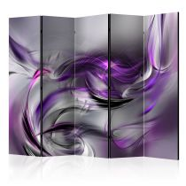 "Paravent 5 Volets ""Purple Swirls II"" 172x225cm"