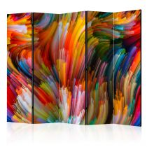 "Paravent 5 Volets ""Rainbow Waves"" 172x225cm"