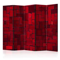 "Paravent 5 Volets ""Red Imagination"" 172x225cm"