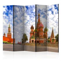"""Paravent 5 Volets """"Red Square, Moscow, Russia"""" 172x225cm"""