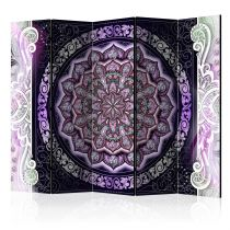 """Paravent 5 Volets """"Round Stained Glass Violet"""" 172x225cm"""