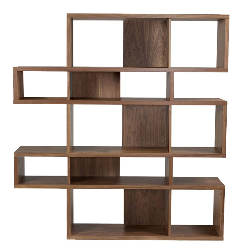 temahome tag re biblioth que london 2 noyer. Black Bedroom Furniture Sets. Home Design Ideas