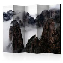 """Paravent 5 Volets """"Sea of Clouds in Huangshan Mountain, China"""" 172x225cm"""