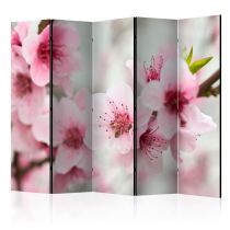 "Paravent 5 Volets ""Spring Blooming Tree Pink Flowers"" 172x225cm"