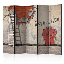 """Paravent 5 Volets """"The Invisible Hand of the Revolution"""" 172x225cm"""