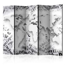 """Paravent 5 Volets """"The World of Newspapers"""" 172x225cm"""
