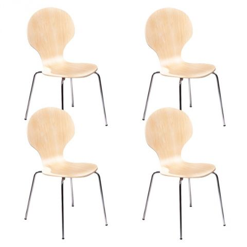 "Lot de 4 Chaises ""Nolan"" Naturel"