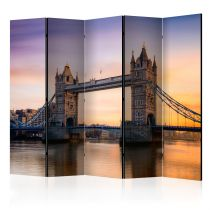 "Paravent 5 Volets ""Tower Bridge at Dawn"" 172x225cm"