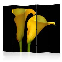 "Paravent 5 Volets ""Two Yellow Calla Flowers"" 172x225cm"
