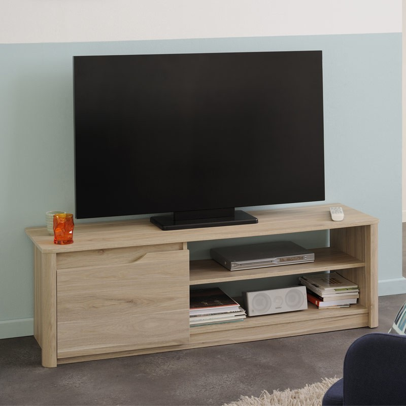meuble tv emy 136cm beige. Black Bedroom Furniture Sets. Home Design Ideas