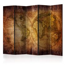 "Paravent 5 Volets ""World on Old Map"" 172x225cm"