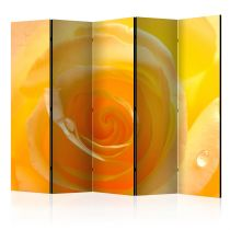 "Paravent 5 Volets ""Yellow Rose"" 172x225cm"