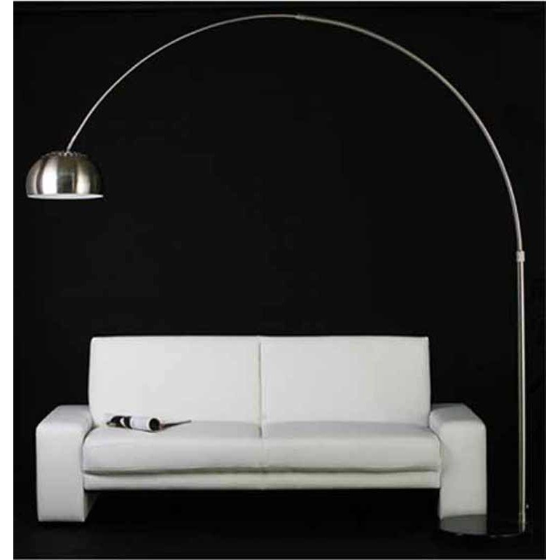 lampe arc xxl acier bross. Black Bedroom Furniture Sets. Home Design Ideas