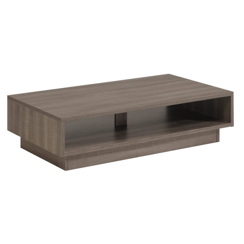 table basse ambelia 119cm marron gris. Black Bedroom Furniture Sets. Home Design Ideas