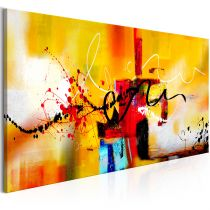 "Tableau Imprimé ""Street Melodies Orange Wide"" 60x120cm"