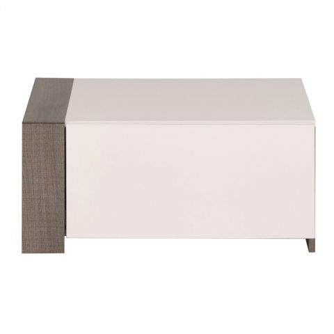 "Extension Meuble TV ""Ambelia"" 69cm Marron & Blanc"