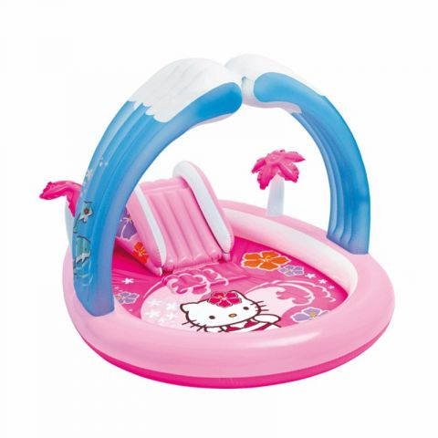 "Aire de Jeux Gonflable ""Hello Kitty"" Rose"