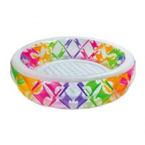 """Piscine Gonflable Ronde """"Croisillons"""" Multicolore"""