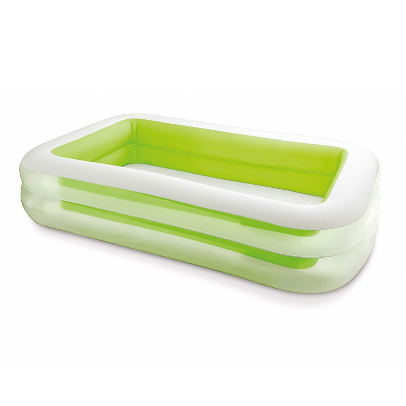 Piscine gonflable rectangulaire vert for Piscine gonflable rectangulaire