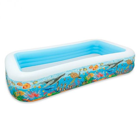 "Piscine Gonflable Rectangulaire ""Family"" Bleu"