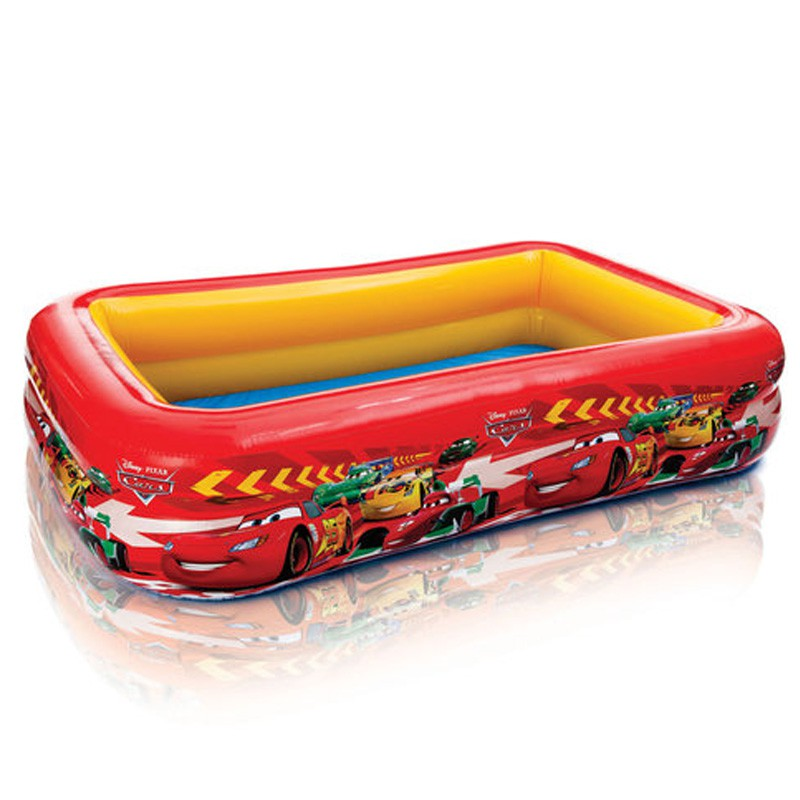 Piscine gonflable rectangle disney cars rouge for Piscines gonflables