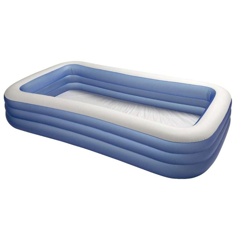 Piscine gonflable rectangulaire bleu for Prix piscine gonflable