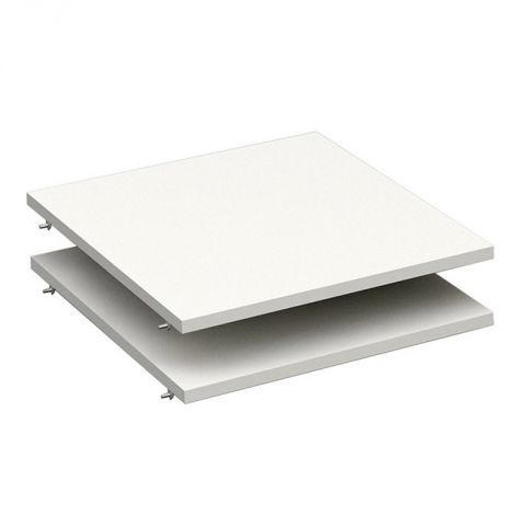 "Lot de 2 Tablettes Dressing 50cm ""Facility"" Blanc"