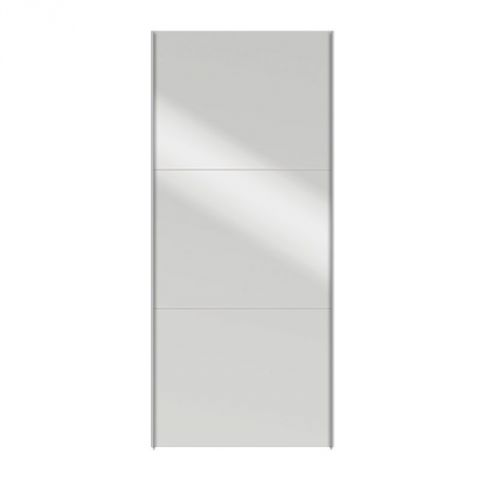 Porte coulissante dressing 100cm facility miroir for Porte miroir coulissante