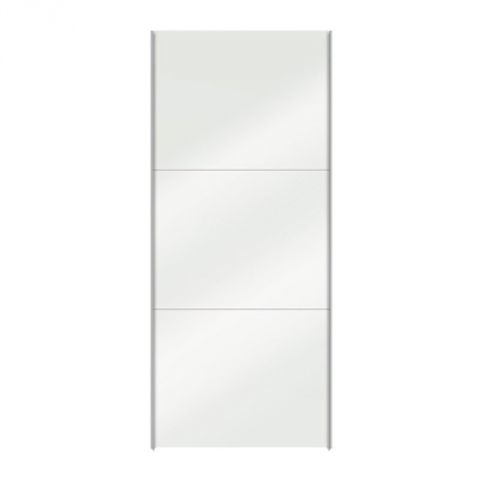 "Porte Coulissante Dressing 100cm ""Facility"" Blanc Brillant"