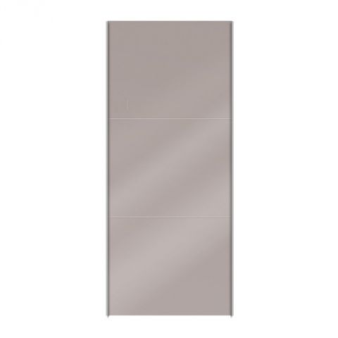 "Porte Coulissante Dressing 100cm ""Facility"" Taupe Brillant"