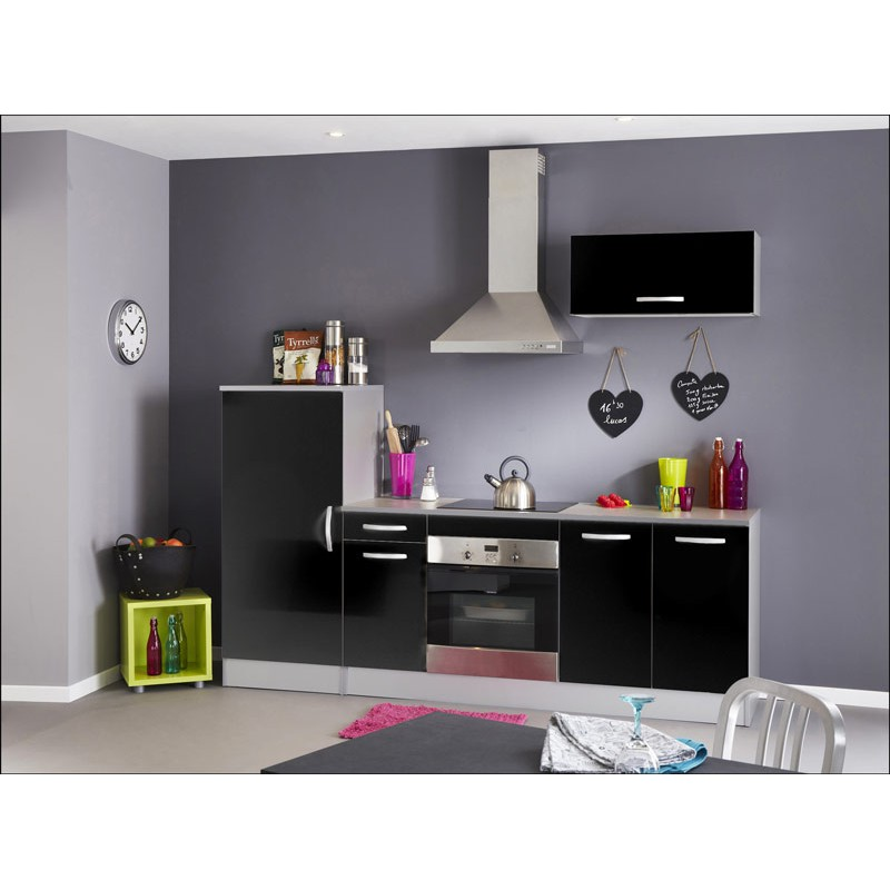ensemble de cuisine clara noir. Black Bedroom Furniture Sets. Home Design Ideas