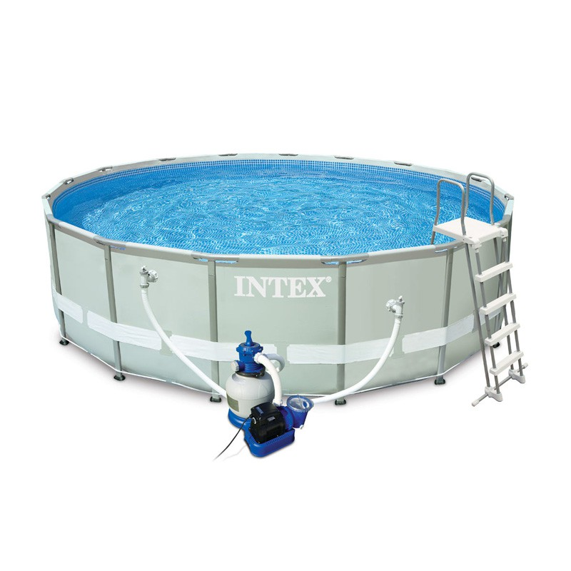 Piscine hors sol tubulaire ultra blanc for Piscine hors sol intex prix