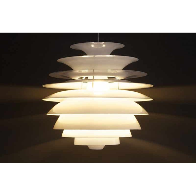Lampe suspension circus blanc for Suspension de lampe
