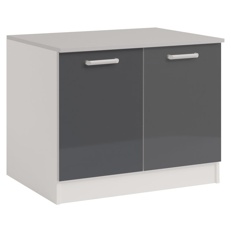 meuble bas cuisine gris meuble bas de cuisine 1 porte 60 cm gris mat achat meuble de cuisine. Black Bedroom Furniture Sets. Home Design Ideas