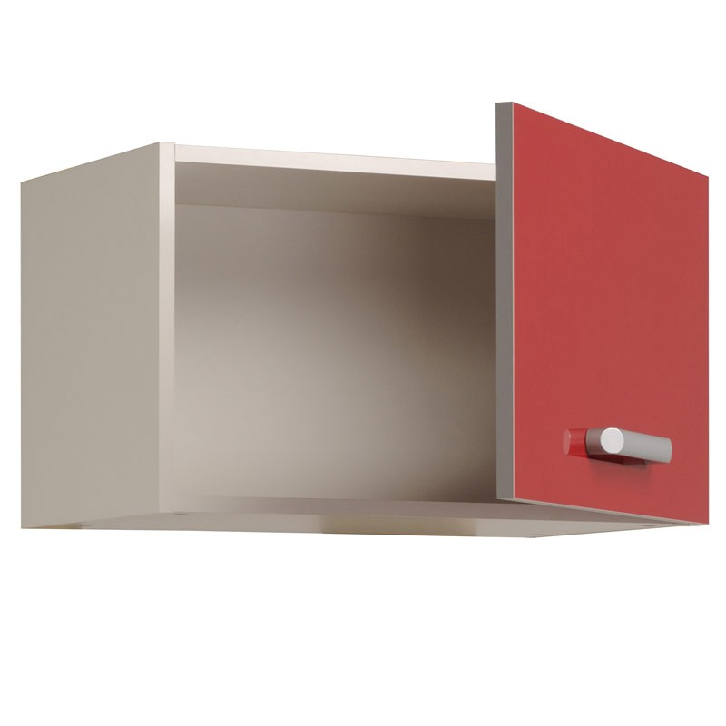 Surhotte 1 porte 60cm shiny rouge for Porte rf 60 prix