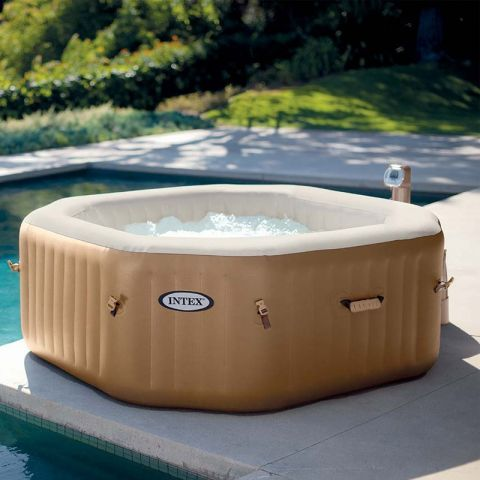Spa Gonflable 4 Places Octogonale Beige