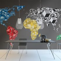"Papier Peint ""Map of the World Colorful Solids"""
