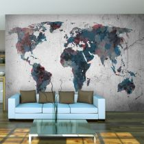 "Papier Peint ""World Map on the Wall"""