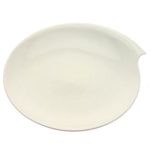 "Lot de 6 Assiettes Plates ""Coquillage"" 30cm Blanc"