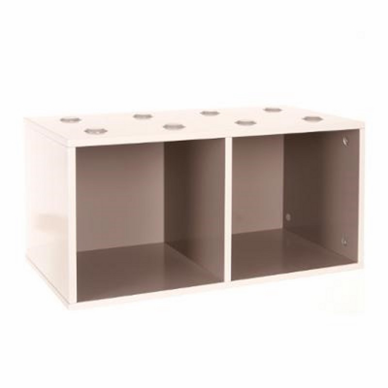 meuble de rangement empilable 2 cubes abc taupe. Black Bedroom Furniture Sets. Home Design Ideas