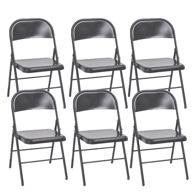 Lot de 6 chaises pliantes keelan gris for Lot de 6 chaises grises