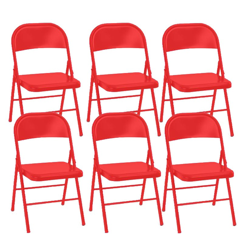 Lot de 6 chaises pliantes keelan rouge - Chaise pliante rouge ...