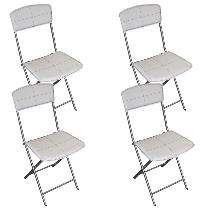 Chaises simili cuir blanc 28 images lot de 4 chaises for Chaises pliables