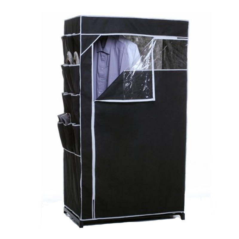 armoire penderie rangements chaussures noir. Black Bedroom Furniture Sets. Home Design Ideas