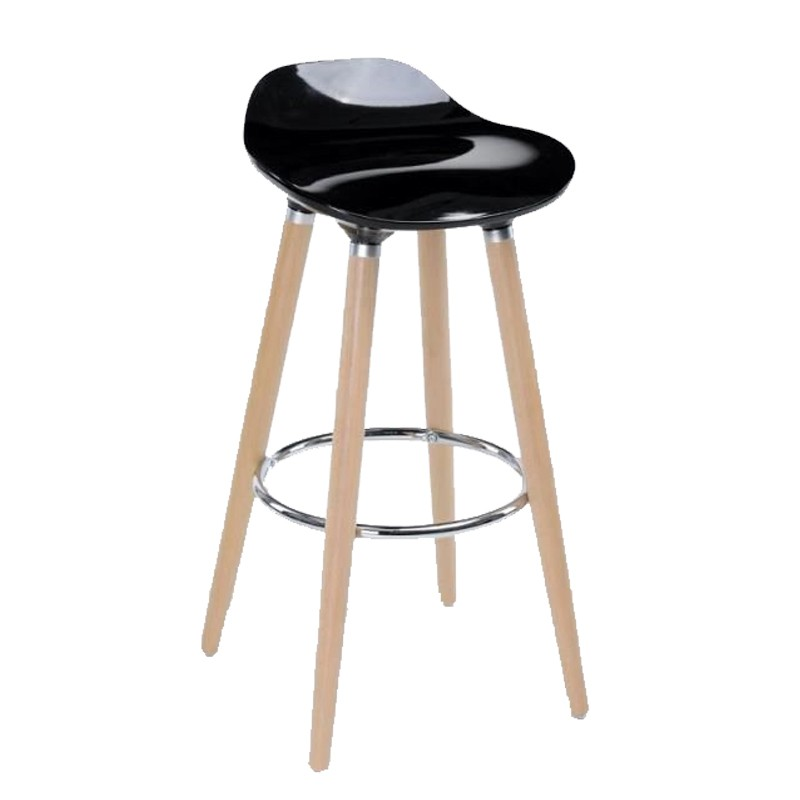 tabouret de bar filel 80cm noir. Black Bedroom Furniture Sets. Home Design Ideas