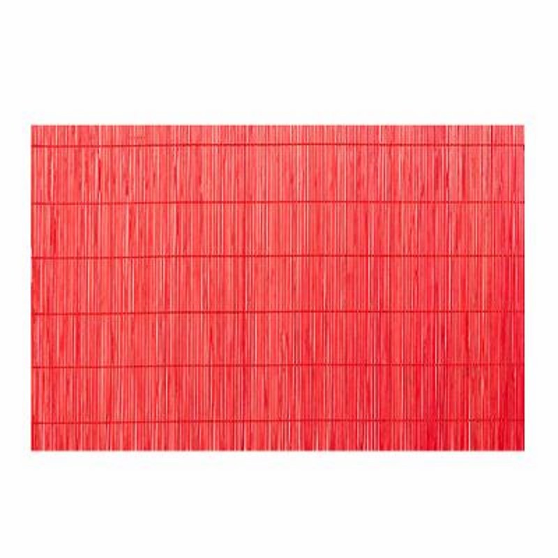 Set de table 30x45cm bambou rouge for Set de table en bambou
