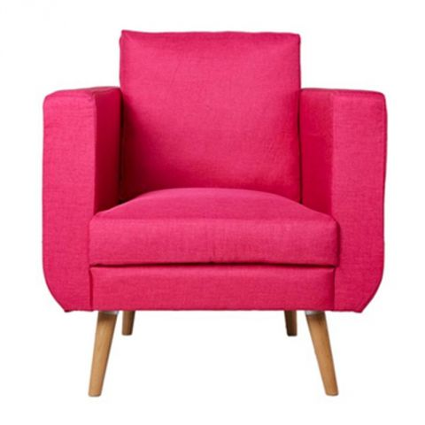 "Fauteuil Club ""Bocky"" Tissu Rose"