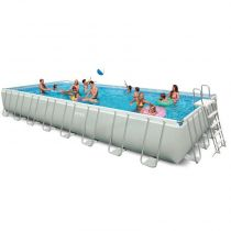 "Piscine Hors-Sol Tubulaires ""Ultra Silver"" 975x488cm Blanc"