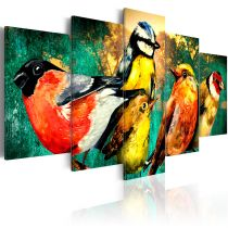 "Tableau Imprimé ""Birds Meeting"""