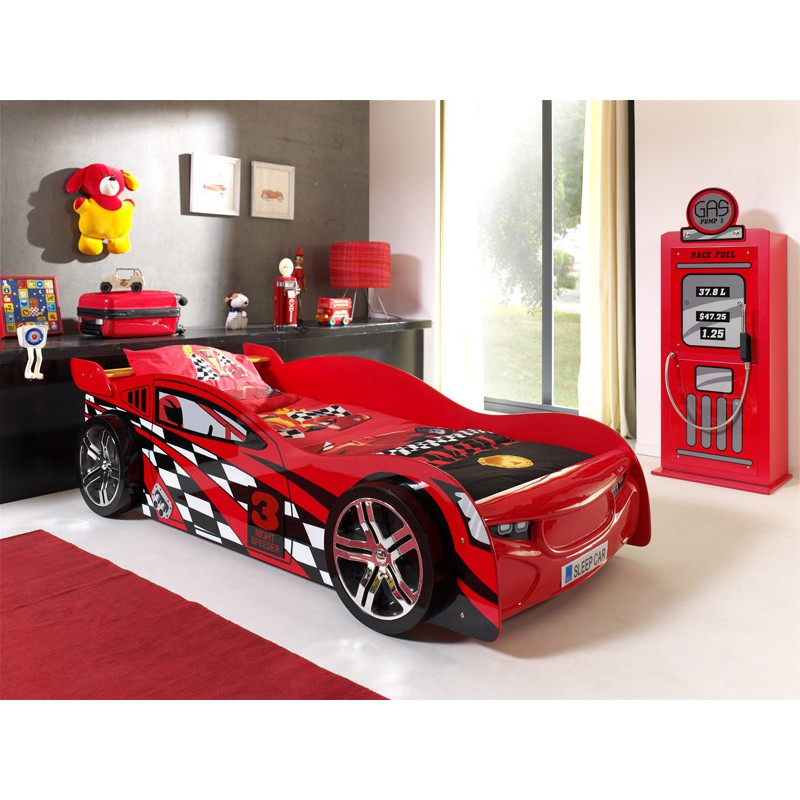 pack lit enfant voiture night speeder armoire 1 porte pompe essence rouge. Black Bedroom Furniture Sets. Home Design Ideas